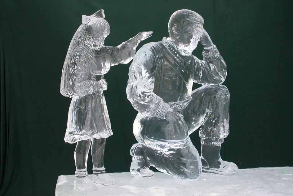 Ice sculpture competition, Fairbanks 2004